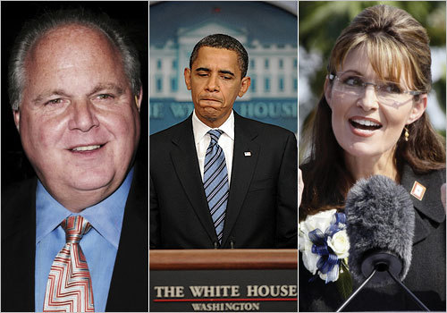 President Obama, Sarah Palin, and radio host Rush Limbaugh might finally share something in common: They're family. Well, sort of. Genealogists at Ancestry.com discovered that Obama and Palin are 10th cousins through a common ancestor named John Smith, a pastor and early settler in 17th-century Massachusetts. The president and Limbaugh are 10th cousins, one time removed. Read on to see some other unlikely, but true, family ties among politicians and celebrities. Read the article.