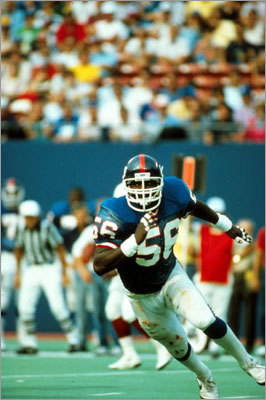 4. Lawrence Taylor Containing Taylor wasn't part of the game plan, because it couldn't be done. Had 34 games with at least two sacks.