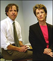 Attorney Leslie Walker and James Pingeon of the Massachusetts Correctional Legal Services. A panel of Correction officers decided not to transfer Geoghan.