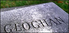Geoghan's gravesite at Holyhood Cemetery in Brookline, where he was buried on Aug. 28, 2003.