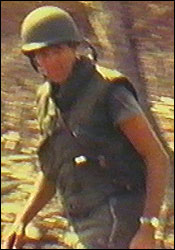 John F. Kerry shown in an 8mm film he made while on duty in Vietnam.