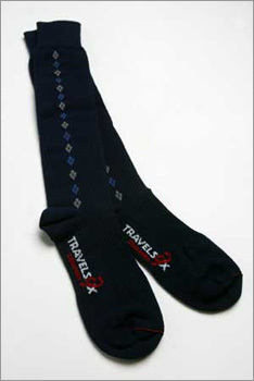 12. Travelsox Swollen feet and legs can be uncomfortable, but when you're on a long-distance flight, they can also be life-threatening. Travelsox compression socks improve blood flow and reduce swelling. MSRP: $29.95 More information: Travelsox
