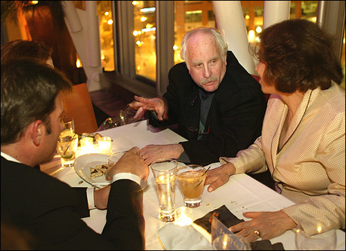 Blu Actor Richard Dreyfuss and the cast from the play 'Sly Fox' enjoy a few cocktails at Blu. Between the savory menu, elegant cocktails and city view, this chic restaurant is the perfect spot to relax. It's located above Washington Street, just across the lobby from Sports Club/LA.