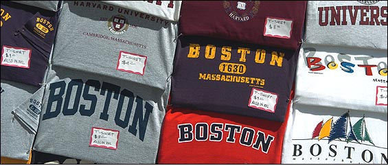 T-shirts for sale on Boston Common.