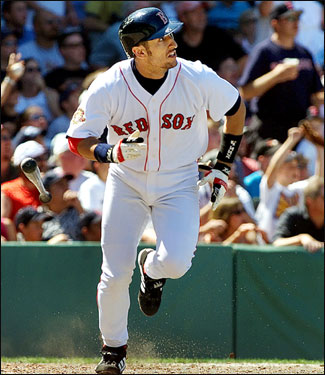 Garciaparra went 2 for 4 in his return from his wrist injury in 2001. His first hit of the season was this solo home run in the sixth inning of the Red Sox game against the White Sox on July 29, 2001. He would return to the DL one month later, hoping to recover fully from his wrist surgery.