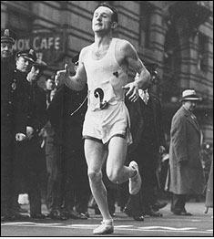 First Marathon victory, 1935.
