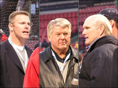 With the Fox NFL pregame show in town to broadcast Sunday's Patriots-Seahawks game from Foxborough, how could the network pass up a self-promotional opportunity for personalities Howie Long, Jimmy Johnson and Terry Bradshaw.