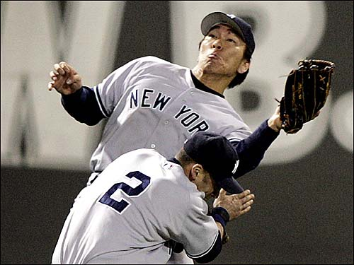 Hideki Matsui and Derek Jeter