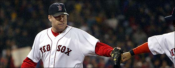 The Sox had to hand it to Curt Schilling after he allowed the Cardinals just one unearned run.