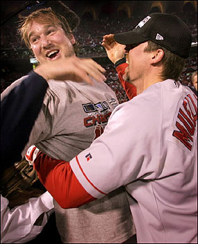 Long after the final out, Derek Lowe and Bill Mueller were still trying to come to grips with the Red Sox' championship feeling.