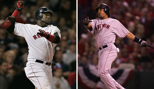 David Ortiz (Game 1) and Manny Ramirez (Game 3) both displayed perfect form in taking the Cardinals deep in the first inning.