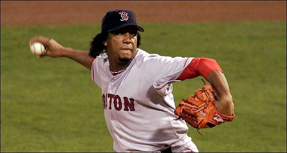 Pedro Martinez was masterful against the Cardinals in Game 3, baffling their potent lineup.