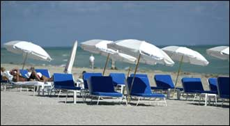 World famous Miami Beach is ready for visitors in search of a suntan.
