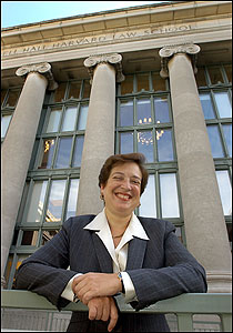 Elena Kagan, dean of Harvard Law School, signed a friend-of-the-court brief supporting the lawsuit.