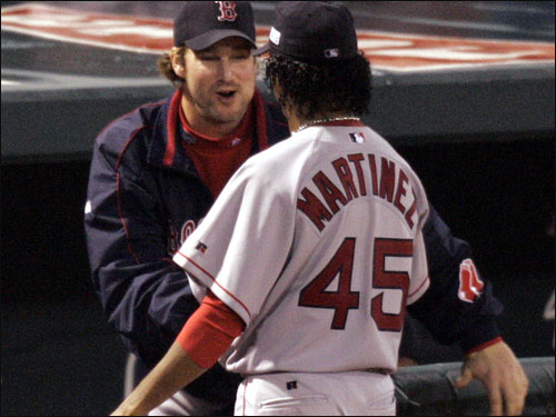 With the Cardinals on the ropes, two games to none, as the World Series switched to St. Louis, Martinez brought Boston within one game of winning it all with a dazzling seven-inning performance (0 runs, 3 hits, 6 Ks). It was his final start in a Red Sox uniform.