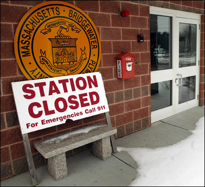 BRIDGEWATER Response rate: 92.8% Bridgewater's new fire station is closed, with only a sign saying to call 911.