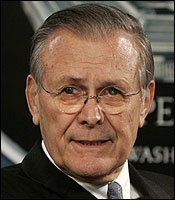DONALD H. RUMSFELD Bush wanted him to stay on