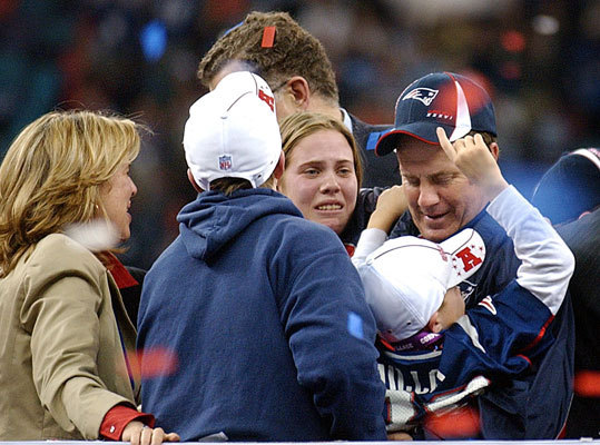 Super Bowl XXXVI, Feb. 3, 2002: Patriots 20, Rams 17 In a fitting end to a storybook season, Patriots quarterback Tom Brady took over at his 17 with 1:21 remaining, no timeouts, and the game tied at 17. He hit on 5 of 8 attempts (including a spike) for 53 yards — the biggest play a 23-yard gain to Troy Brown across midfield — to set up Adam Vinatieri's 48-yard field goal as time expired. At 24, Brady became the youngest winning quarterback in Super Bowl history, and the Patriots had their first world championship in their 42-year history.