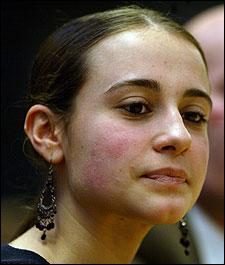 Julie Hancock, a Brockton High School junior, was the lead plaintiff in the school-funding case.