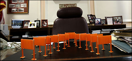 Geoff Hargadon's Somerville Gates stood in all their fame on Mayor Joseph A. Curtatone's desk on 'Hargo Day' yesterday.