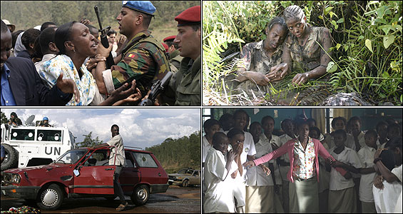 Scenes from Raoul Peck's feature film about the Rwandan genocide 'Sometimes