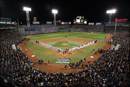 The Red Sox hosted the Cardinals in the World Series last fall.