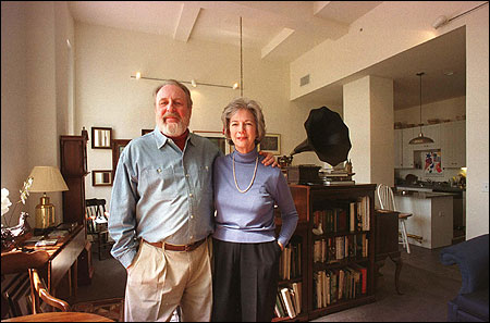 Dick and Susan Reinhart make the 1926 building that once housed the Southern New England Telephone Co. their home in Hartford. They designed the apartment. ''We already thank ourselves,'' Dick said.