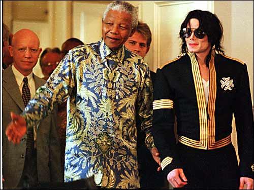 Jackson and Nelson Mandela