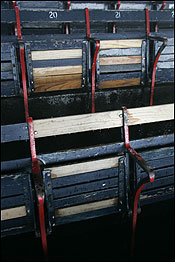 Fenway's punishing seats were installed in 1934, and those same seats are still in the grandstand.