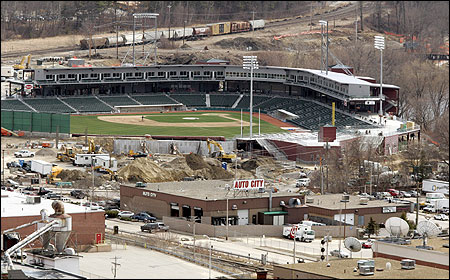 The Fisher Cats' $27.5 million minor-league stadium opens tonight in Manchester, N.H.