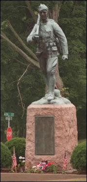 The Marching Doughboy Theo Alice Ruggles Kitson sculpted the statue that honors the 115 Hopkinton residents who fought in World War I. Ruggles Kitson was born in Brookline in 1876. Her life-size work of Thaddeus Kosciuszko stands today in Boston's Public Garden.