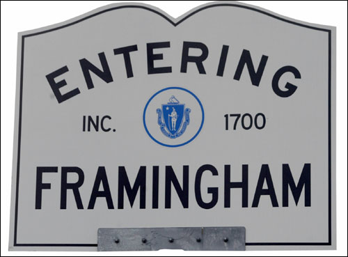 180-205-155 Elevations 9,500 Population in 1890 66,910 Population in 2004 Race distance in Framingham: 2.57 miles