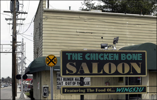 "Mile 6.7: Most memorable name The Chicken Bone Saloon, 358 Waverly St. Officials in Framingham had a bone to pick with the saloon three years ago, when they halted an 11-year Marathon tradition. ""We had a stage with bands outside and grills,"" says manager Andrew Sommer. Framingham police said it was a permit issue."