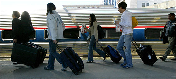 With high-speed Acela service suspended, Amtrak's regional trains filled up at Boston's South Station on Friday.