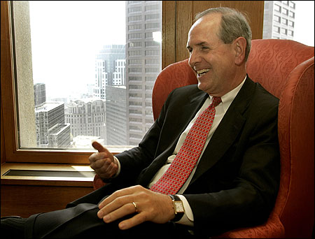 UMass trustees are expected to approve Michael F. Collins (above) as chancellor of the UMass-Boston campus next week.