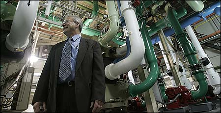 George Hagg, assistant utilities director, said Faroll knew what kept Wellesley running.