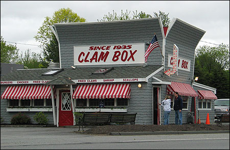 Restaurants such as the Clam Box in Ipswich have had to import clams from northern Maine because of the red tide outbreak.