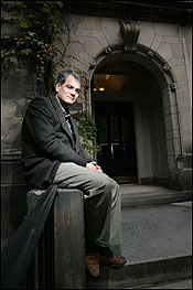 Literary biographer Blake Bailey at Boston University, where his current subject, novelist and short-story writer John Cheever, taught in 1974 and '75.