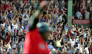 David Ortiz sent the Fenway Faithful into a frenzy with his walkoff homer.