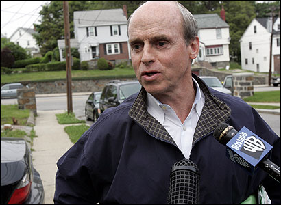 Former House speaker Thomas M. Finneran, arriving at his Mattapan home Monday.