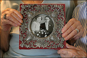 'I always assumed they were the longest-married couple in Rhode Island, but to think the world. I am truly stunned.' -- Lori Petros Granddaughter of John and Emilia Rocchio of North Providence (above and at left in their 1923 wedding photo)