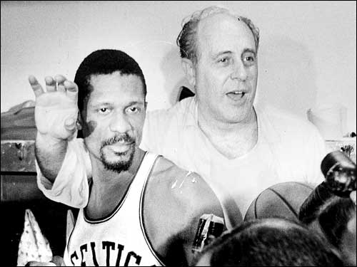 Auerbach and Russell celebrated another NBA title in 1966. Russell would succeed Auerbach as player-coach the next season, while Auerbach became general manager.