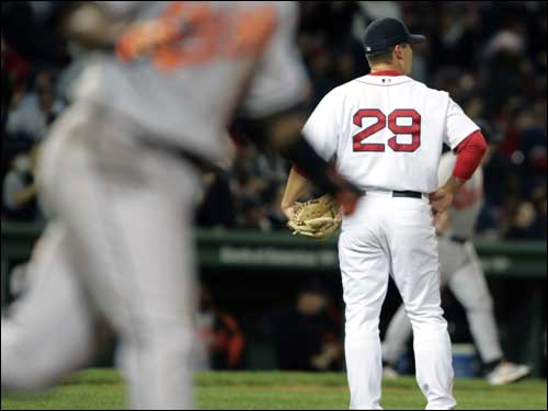 For Keith Foulke, 2005 was a season to forget. He blew a few saves early on, got on the wrong side of Red Sox fans with his 'Johnny from Burger King' comments, had surgery, and never got a chance to regain his closer's job. His line for the season -- 5.91 ERA, 5-5 record, 15 saves and four blown saves. Click the links below to recap some of Foulke's flops.