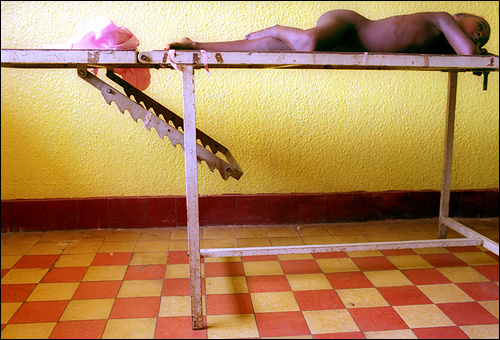 Four-year-old Victoria Kalonda lay naked on a metal table in the clinic. She had come in with a high fever, a stiff neck, and severe headaches--signs of often-deadly meningitis. Results from a spinal tap confirmed that she did in fact have that illness.