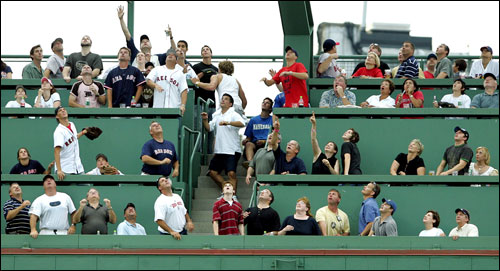 This was a familiar scene at Fenway over the last four games, as the Sox and Yankees combined to hit 15 homers (14 out of the park) in their four-game series.