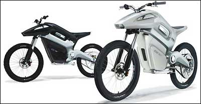 Intelligent Energy, of Britain, aims to launch motorbikes powered by fuel cells (prototypes above) late next year.