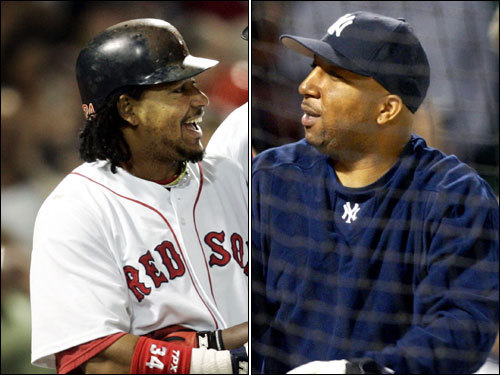 Aug. 30, 2003 Reportedly sighted at a bar in a Boston hotel socializing with Yankee Enrique Wilson despite being too sick to play (throat inflammation) in a three-game series against New York. He did not report for a doctor's appointment at Fenway Park the next morning.
