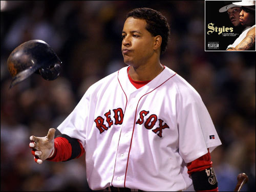 Sept. 7, 2002 Requests song 'Good Times (I Get High)' by Styles for his plate appearances. Song is an ode to drugs with obscene lyrics that are played over Fenway Park PA system.