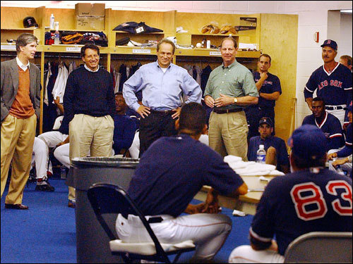 Dec. 10, 2001 Says he was uncomfortable in his first season in Boston, prompting Red Sox ownership to expand the clubhouse and create a separate room for media interviews.