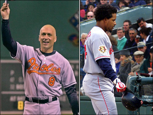 Sept. 27, 2001 Misses last home game of the season for 'personal reasons,' a game that includes the team honoring Cal Ripken Jr. during his last game at Fenway.